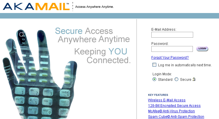 AKA Mail, A webmail application built for business
