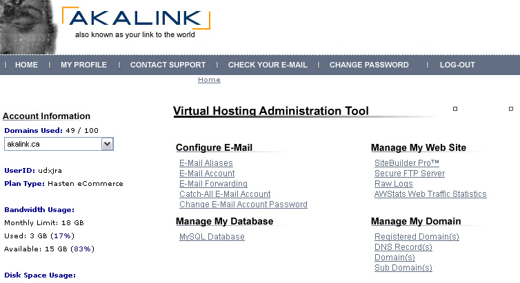 My AKA Link, An easy to use server administration & web development tool